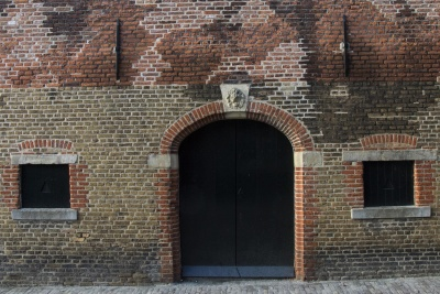 wall, architecture, brick, house, old, door, entrance, window