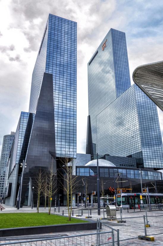 Architektur, Modern, Stadt, Innenstadt, urban, Himmel, zeitgenössisch