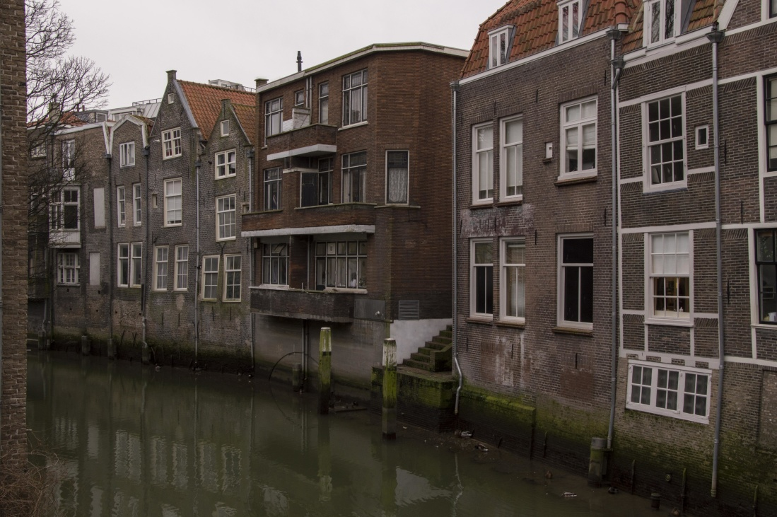 architecture, house, home, city, canal, old, brick, window, water, city