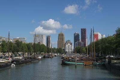 vody, mesto, rieka, harbor, lode, vodné skútre, waterfront, panoráma mesta