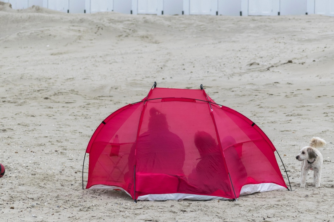 beach, tent, umbrella, sand, shelter, landscape, structure