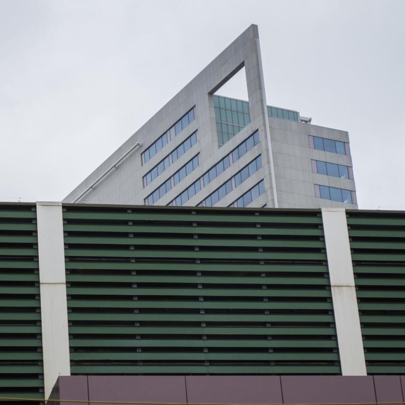 architecture, modern, window, contemporary, facade, sky, construction