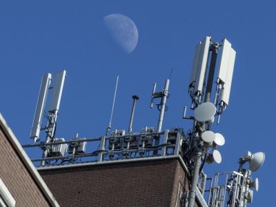 inalámbrico, tecnología, cielo, industria, equipo, antena, receptor