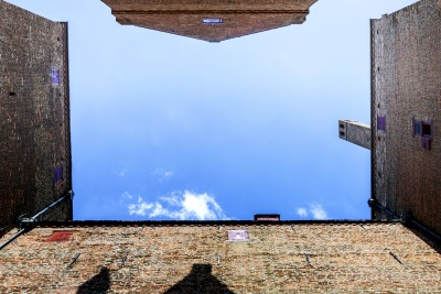 old, sky, landscape, architecture, wall, window, sky