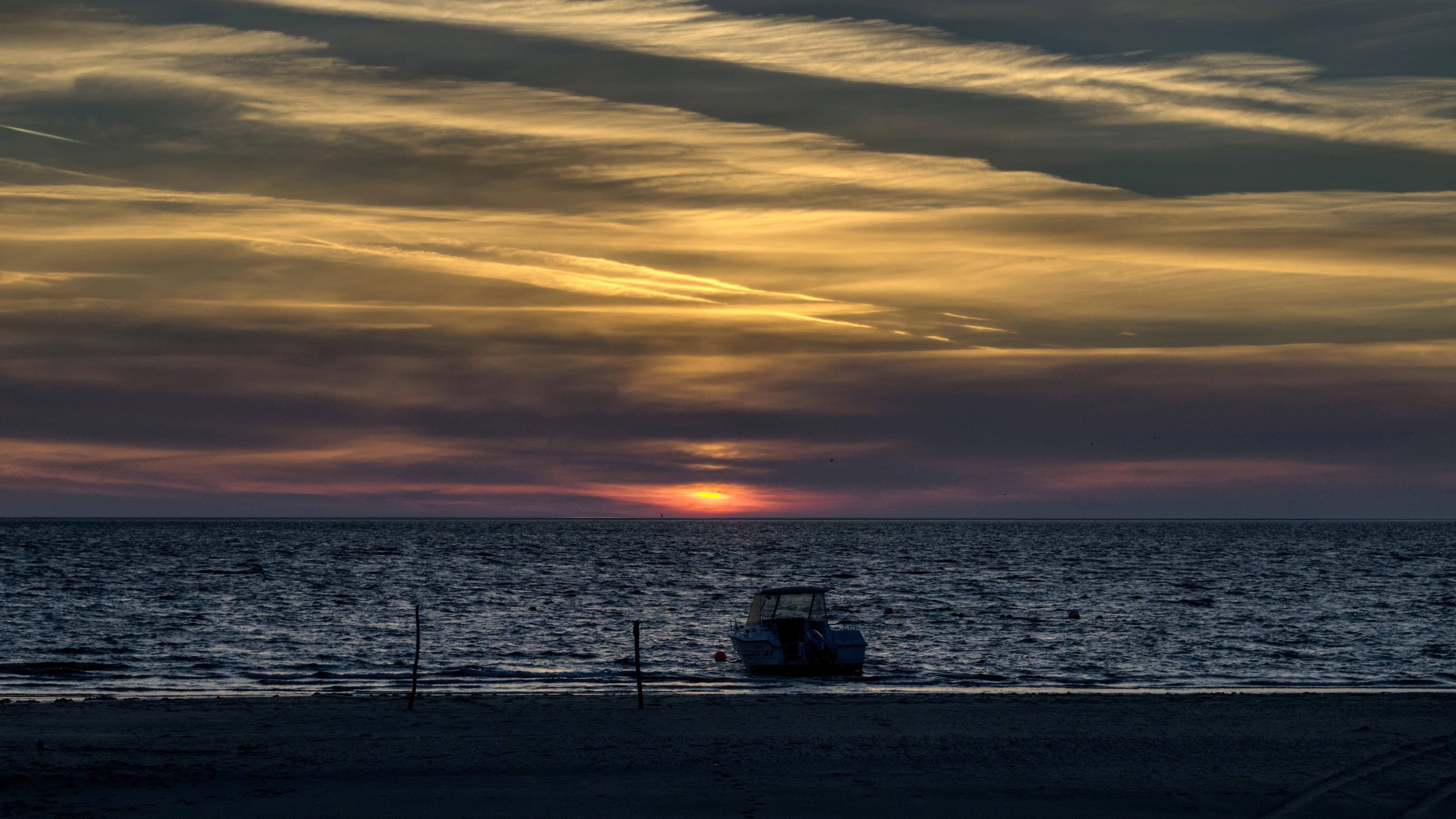 Foto Gratis Tramonto Acqua Alba Mare Oceano Spiaggia Tramonto