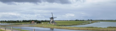 windmill, water, landscape, wind, agriculture, grass, sky
