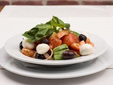 insalata, cibo, cena, pasto, pranzo delizioso, orticole, piatto