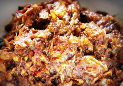 alimento, carne, cena, comida, cerdo, comida, salsa, carne, plato, restaurante