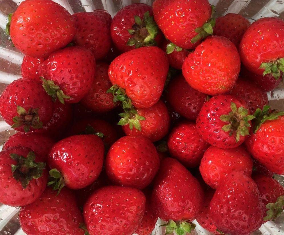 jordgubb, berry, mat, frukt, läckra, söta, röda, kost