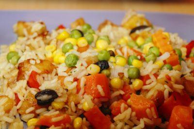 cibo, riso, cena, pranzo, verdura, legumi, insalata, pasto, deliziosa