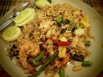 arroz, comida, jantar, almoço, delicioso, refeição, prato, legume, salada