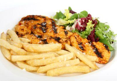 cena, cibo, pranzo, pasto, piatto, carne, deliziose, patate, verdure