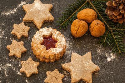món tráng miệng, trang trí, đường, thực phẩm, cookie, walnut, màu nâu