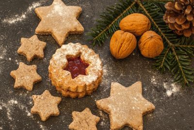 makanan penutup, dekorasi, gula, makanan, kue, walnut, coklat