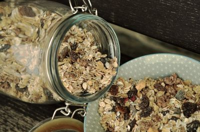 glass, diet, cereal, flakes, food, muesli, nutrition, organic
