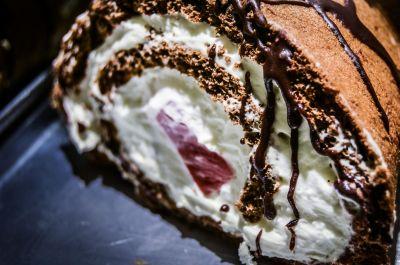 cokelat, manis, gula, krim, makanan, kue, lezat, kue, makanan penutup