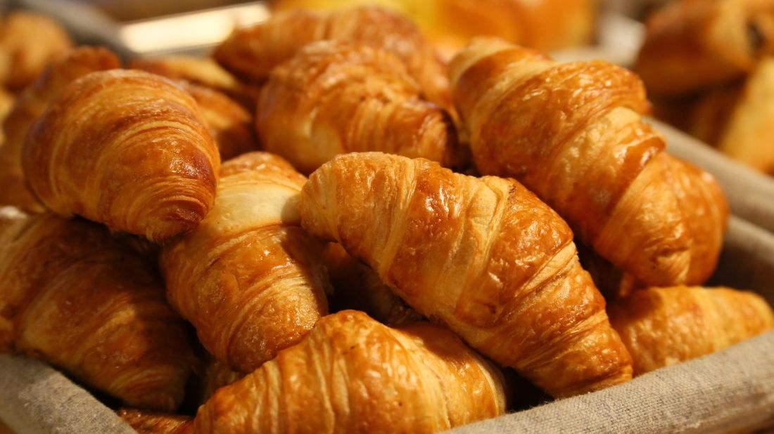 croissant, Raňajky výborné, jedlo, maslo, výživa