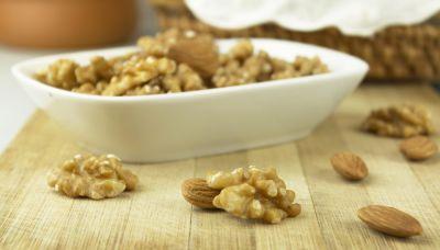 makanan, walnut, mangkuk, nutrisi, kacang, buah, makanan