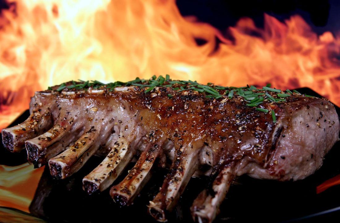 Grill, kød, mad, middag, bøf, oksekød, røg, måltid, trækul