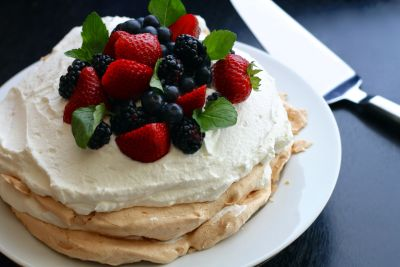 delicious, cream, breakfast, pancake, berry, sweet, mint, strawberry
