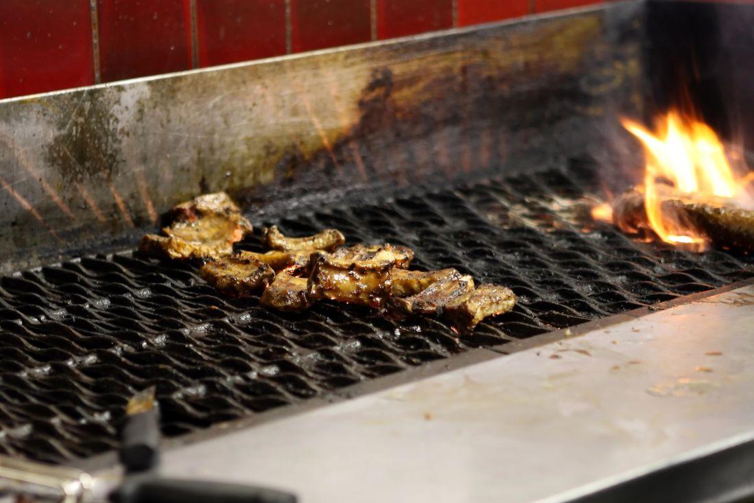 tepla, barbecue, vypalování, uhlí, uhlí, jídlo, kouř, maso