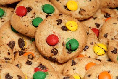 mad, sød, lækker, dessert, morgenmad, måltid, cookie