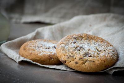 cuisine, maison, petit déjeuner, brun, farine, sucre, biscuits