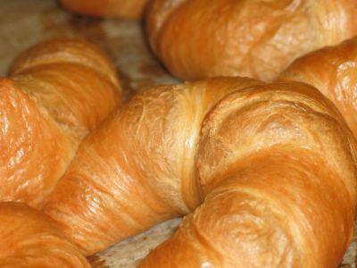 πρωινό, φαγητό, ψωμί, κρουασάν, νόστιμο, κολοκύθα