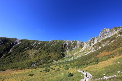 paesaggio, montagna, cielo, natura, cielo blu, erba, escursione