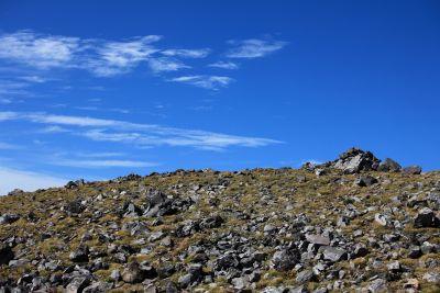 landscape, sky, nature, mountain, hill, stone