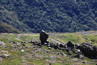 cảnh quan, núi, đá, đồi, cỏ, thiên nhiên