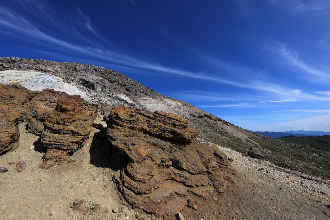 风景, 蓝天, 山, 沙漠, 地面, 土壤