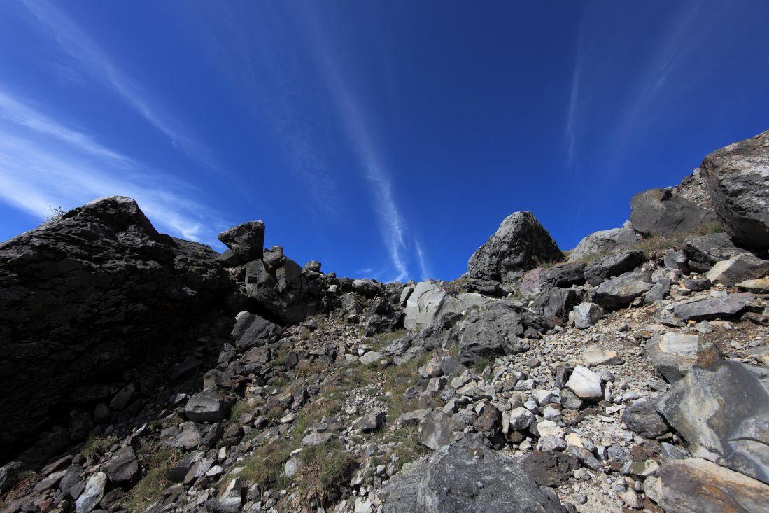 peisaj, munte, cerul, mare, sol, sol