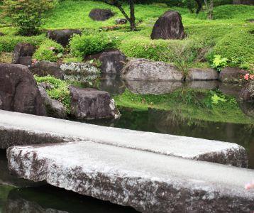 water, stone, nature, garden, park
