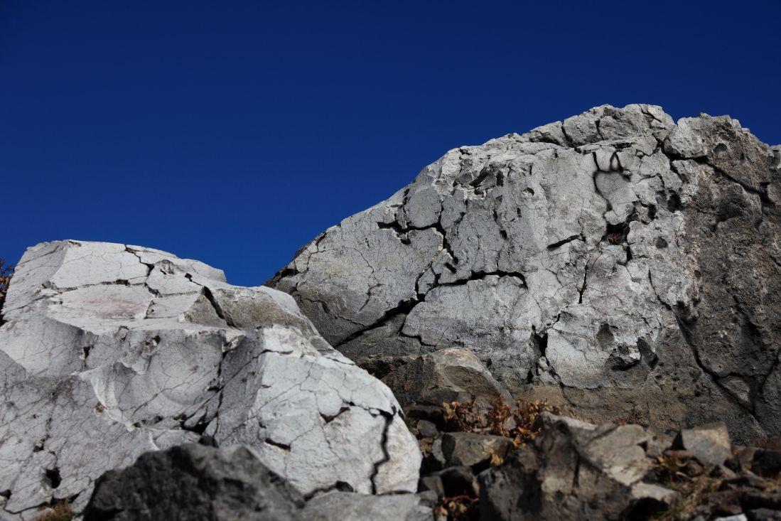 blå himmel, sten, struktur, landskap