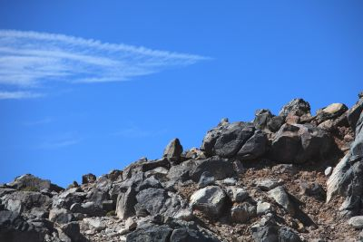 sky, landscape, nature, mountain, blue sky, stone