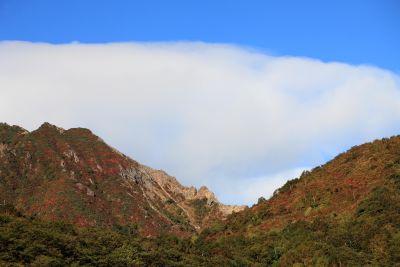Berg, landschap, lucht, canyon, vallei, boom