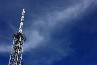 cielo, torre, dispositivo, antena, wireless, dispositivo
