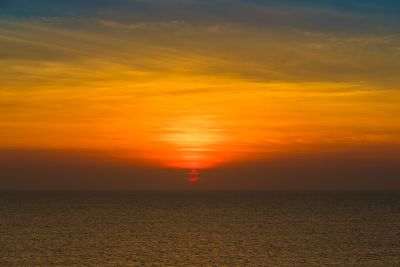 coucher de soleil, mer, plage, eau, soleil, aube, océan, crépuscule, paysage marin, étoile