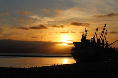Sunset, vesi, dawn, meri, ocean, sun, hämärä, aluksen kalastaja, taivas