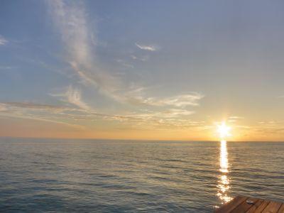 puesta de sol, sol, agua, amanecer, mar, océano, playa, cielo, orilla, Costa