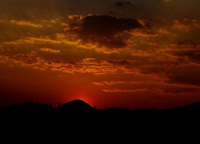 ηλιοβασίλεμα, αυγή, με οπίσθιο φωτισμό, σούρουπο, σιλουέτα, ήλιος, αστέρι, ουρανός, τοπίο