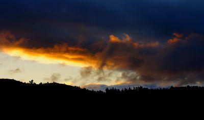 coucher de soleil, aube, ciel, soleil, paysage, crépuscule, atmosphère, étoile, nuage