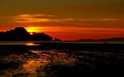 sunset, dawn, dusk, water, sun, beach, sky, ocean, sea, sunrise