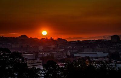 puesta de sol, amanecer, sol, atardecer, cielo, estrellas, paisaje, salida del sol