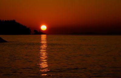 coucher de soleil, aube, eau, crépuscule, soleil, mer, plage, océan, étoile, lever du soleil