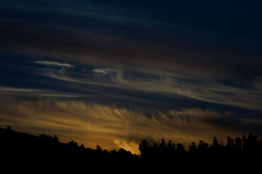 Sunset, sky, landskab, dawn, dusk, mørke, atmosfæren, sol, sunrise