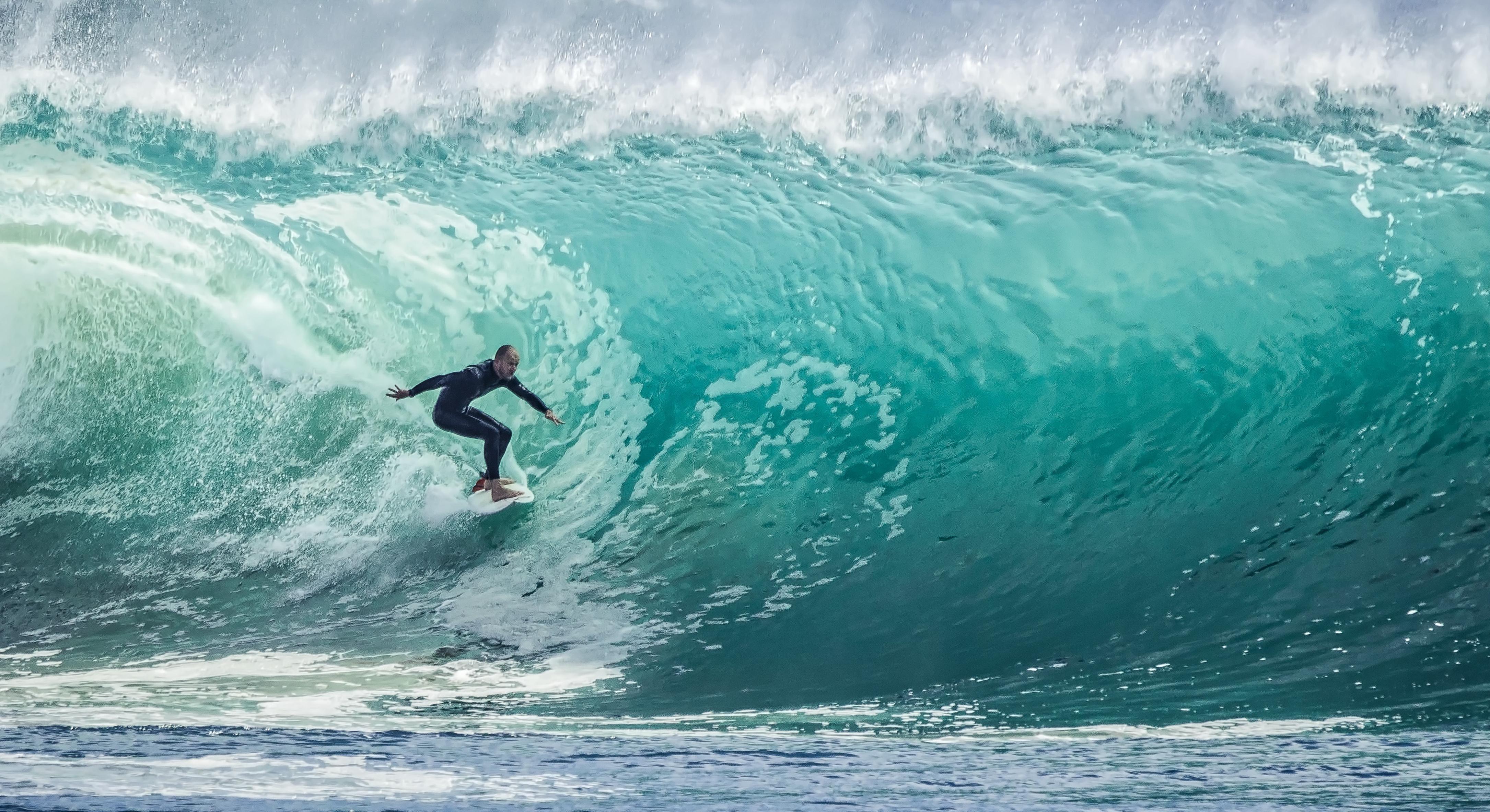 Water, Wave, Sea, Ocean, Surfer, Swimmer, Beach, Summer