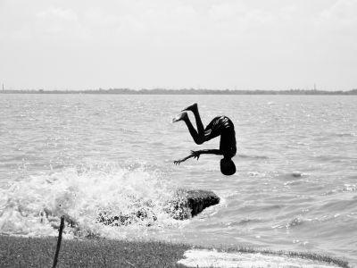 水、海、ビーチ、海、夕焼け、砂、シルエット、スポーツ、サーファー