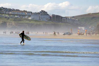 air, pantai, pesisir, laut, laut, surfer, olahraga, ekstrim, musim panas